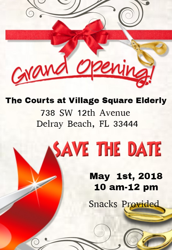Save the date Village square elderly
