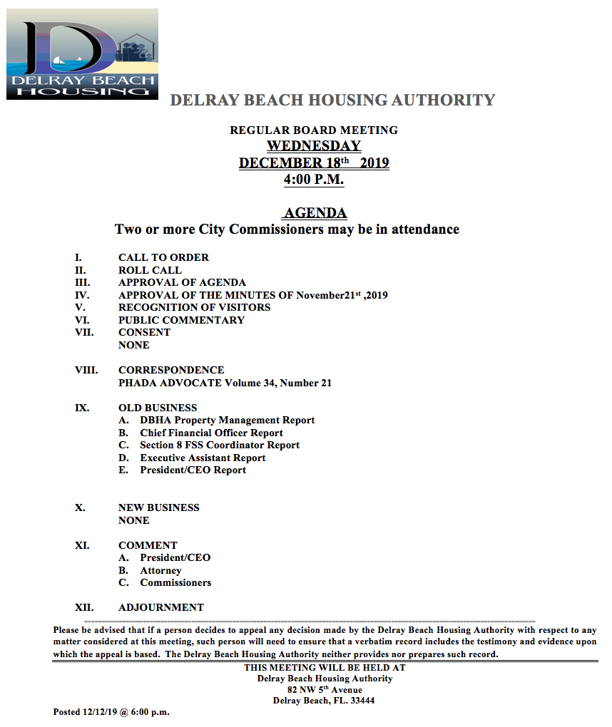 DBHA-agenda-12-18-19